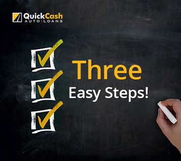 Picture of the three easy steps to obtain your Miami Auto Title Loan